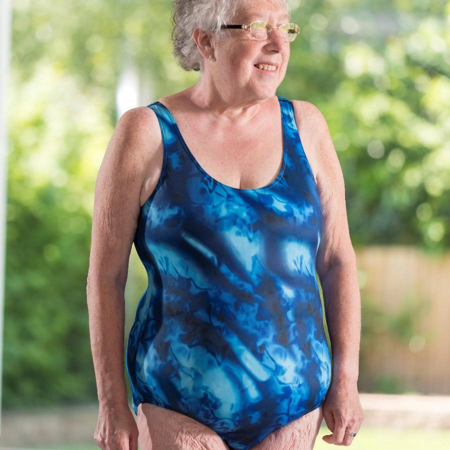 Hi Line Ladies Swimsuit - Liquid Light
