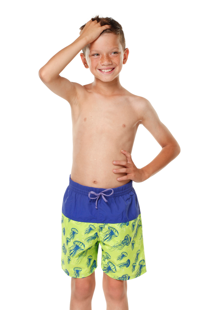 Kes-Vir Boy's Jellyfish Board Shorts - Incy Wincy Swimstore