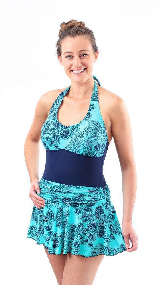 Kes-Vir Ladies Skirt Swimsuit - Incy Wincy Swimstore