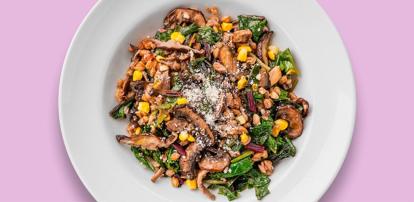 Farro Risotto with Wild Mushrooms