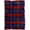 MacLachlan Tartan Plaid Print Fleece Blanket, Gift for Son From Mom, Pattern Fleece Blanket