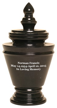 Trophy Ebony Keepsake Urn
