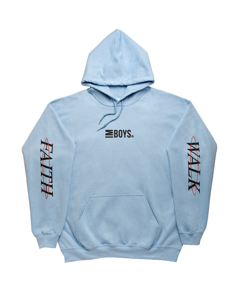 Faith Walk hoodie - Light Blue