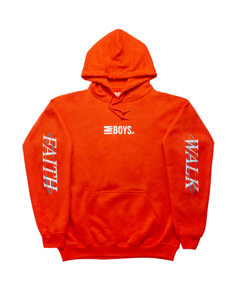 Faith Walk hoodie - Orange
