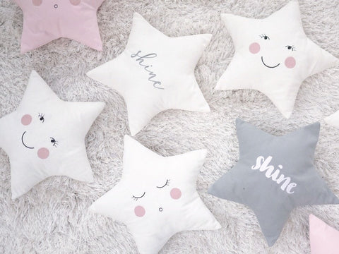 Star pillow for nursery by Fun Nest