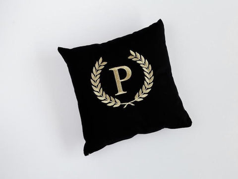 Customizable Letter throw pillow by Funnest