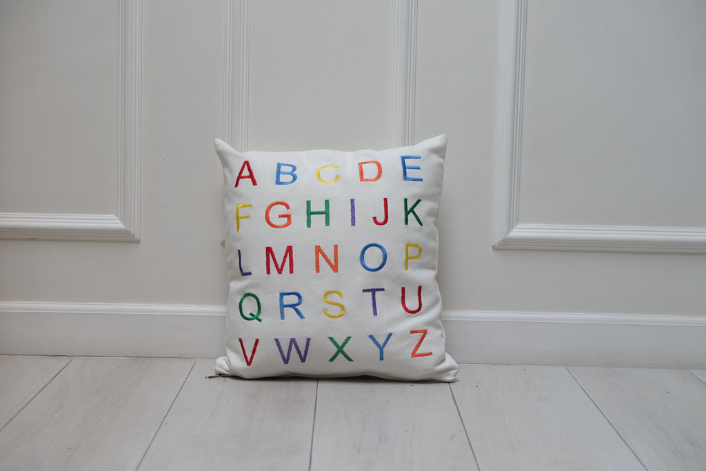 Alphabet Throw Pillow