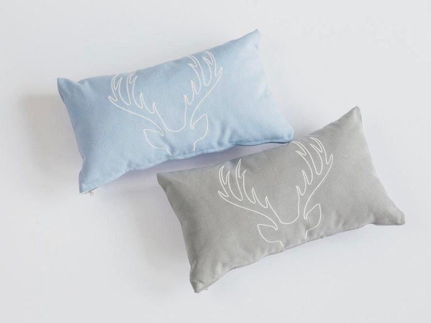 Deer Embroidered Pillow