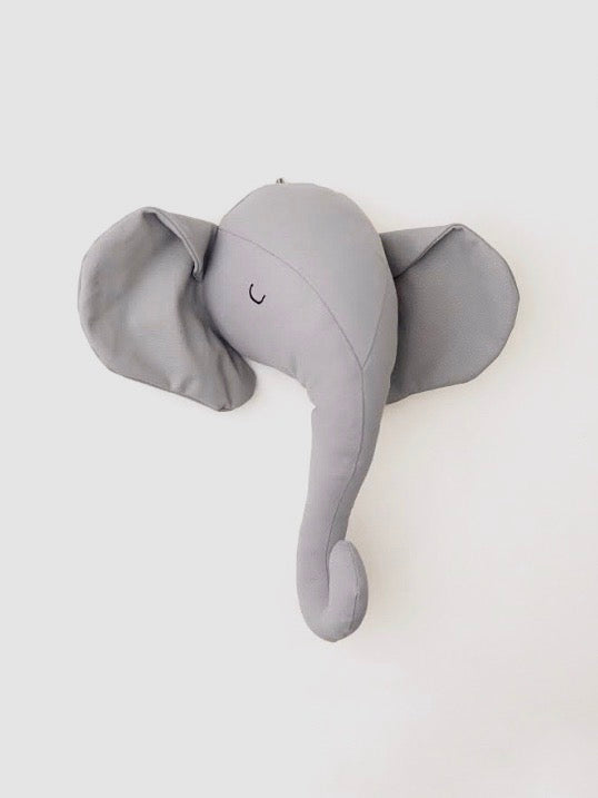 Elephant head wall decal by funnest