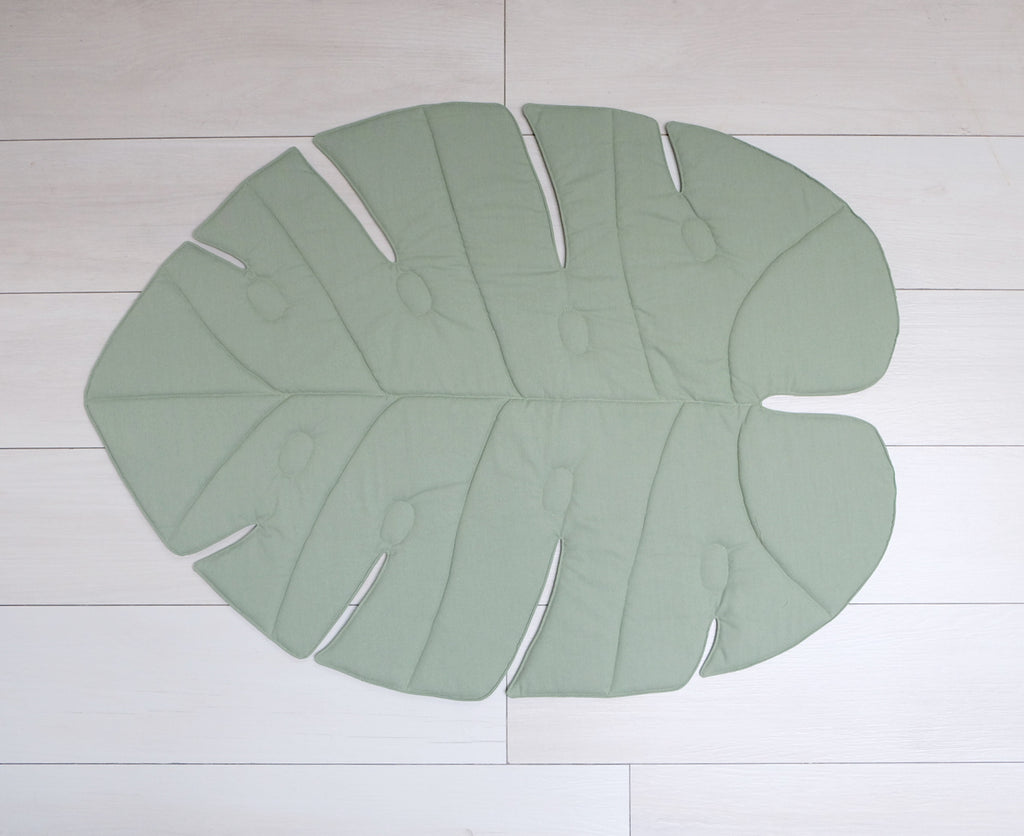 Linen Monstera Mat