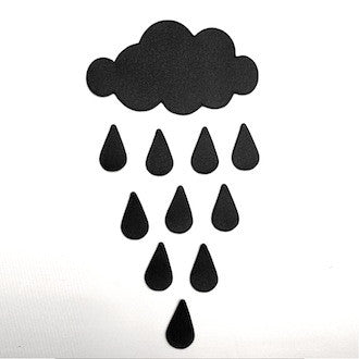 Cloud & Rain Wall Decal