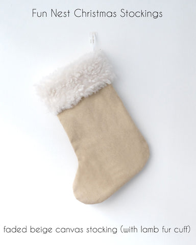 Christmas Stocking - Faded Beige