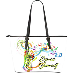 Express Yourself Premium Large Leather Tote Bag