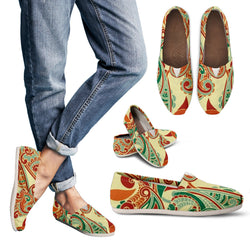 Retro Paisley Women's Espadrille Shoes