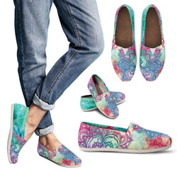 Bohemian Tie Dye Women's Espadrille Shoes