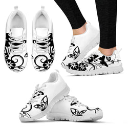 Black Butterfly Women's Designer Running Shoes