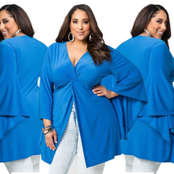 Plus Size Women Split Over Sized Tunic