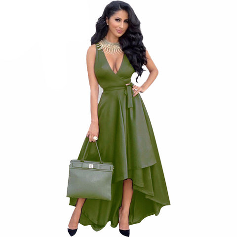 Sexy Women Deep V neck Loose Maxi Dress