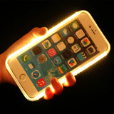 Illuminated Selfie Light Up LED CellPhone Case -  iPhone 5 5S SE 6 6s plus
