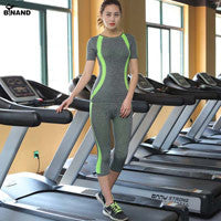 2 Piece Fitness T-shirt and Capris leggings