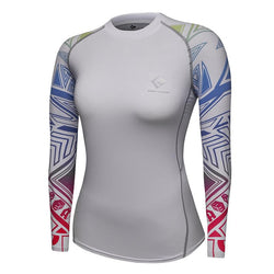 Compression Long Sleeve 3D Print Tee