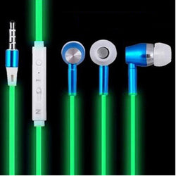 Glow In The Dark Earphones With Mic
