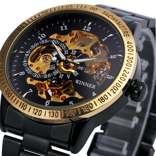 Luxury Sports  Automatic Skeleton Military Watch