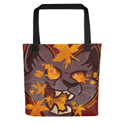 Fall Cat Tote Bag