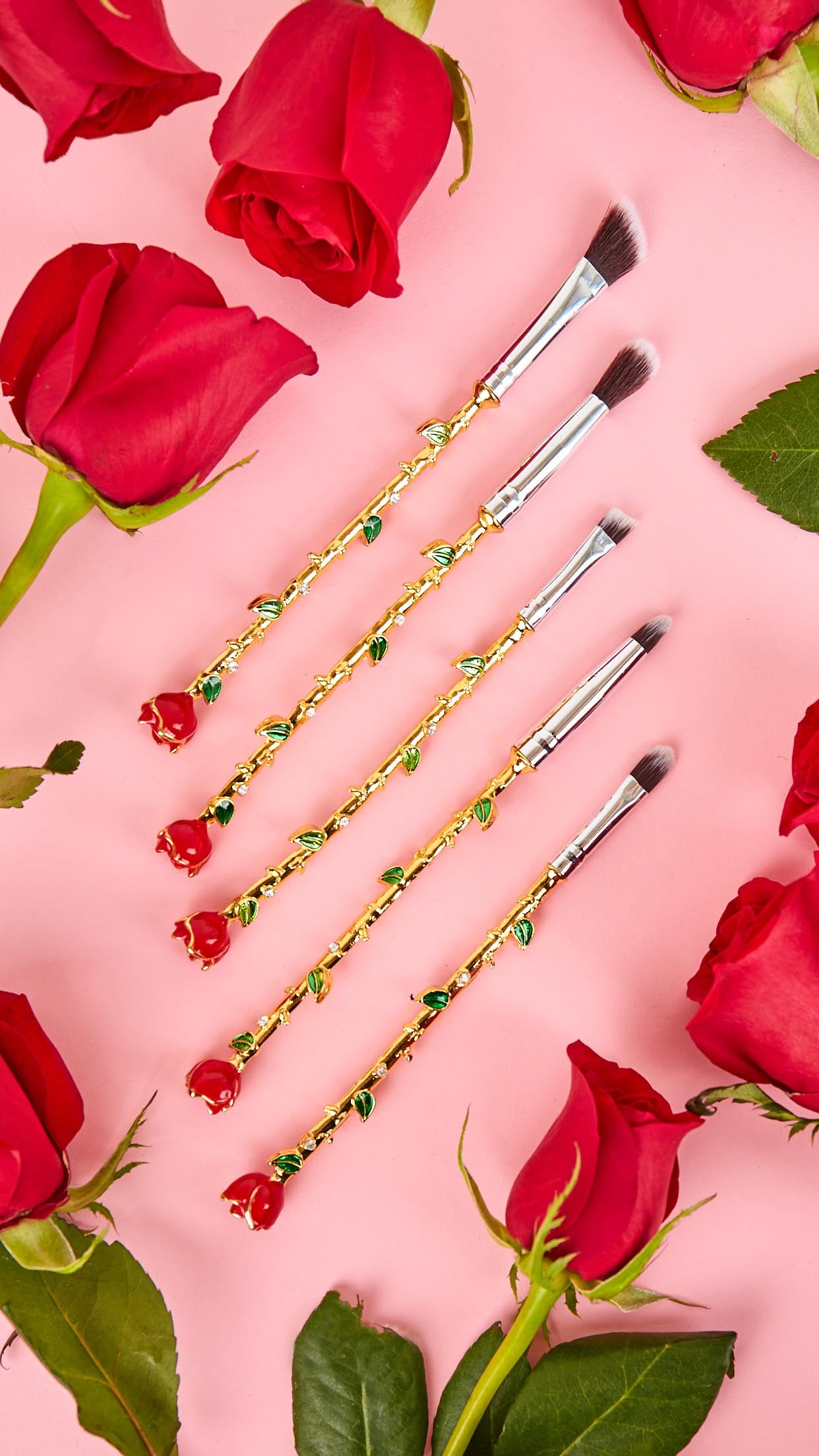 5-Piece Rose Stem Flower Brush Set