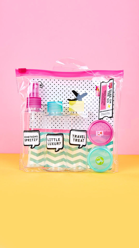 Glam On the Go Travel Bottle Kit