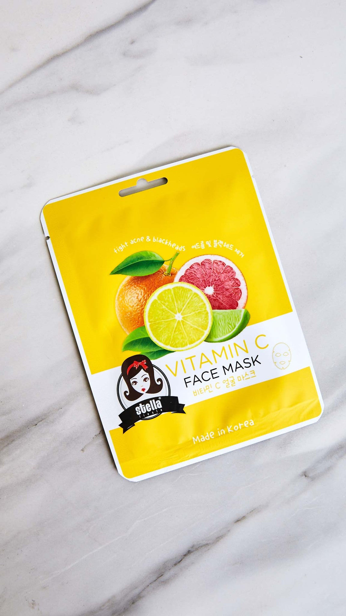 Vitamin C Fighting Acne and Blackheads Face Mask
