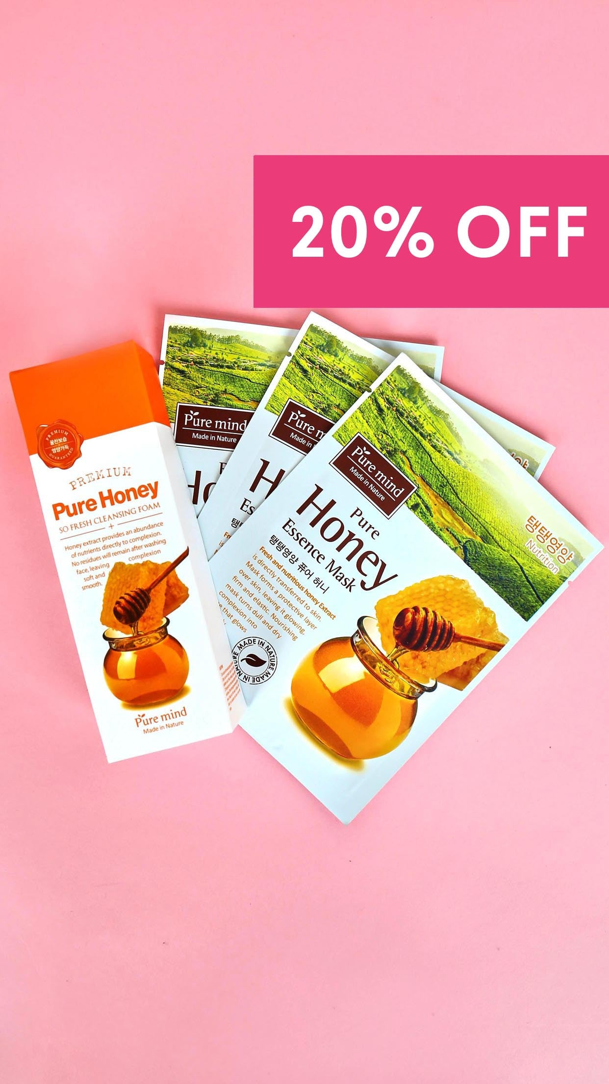Honey Cleansing Foam + 3 Honey Hydrating Essence Masks
