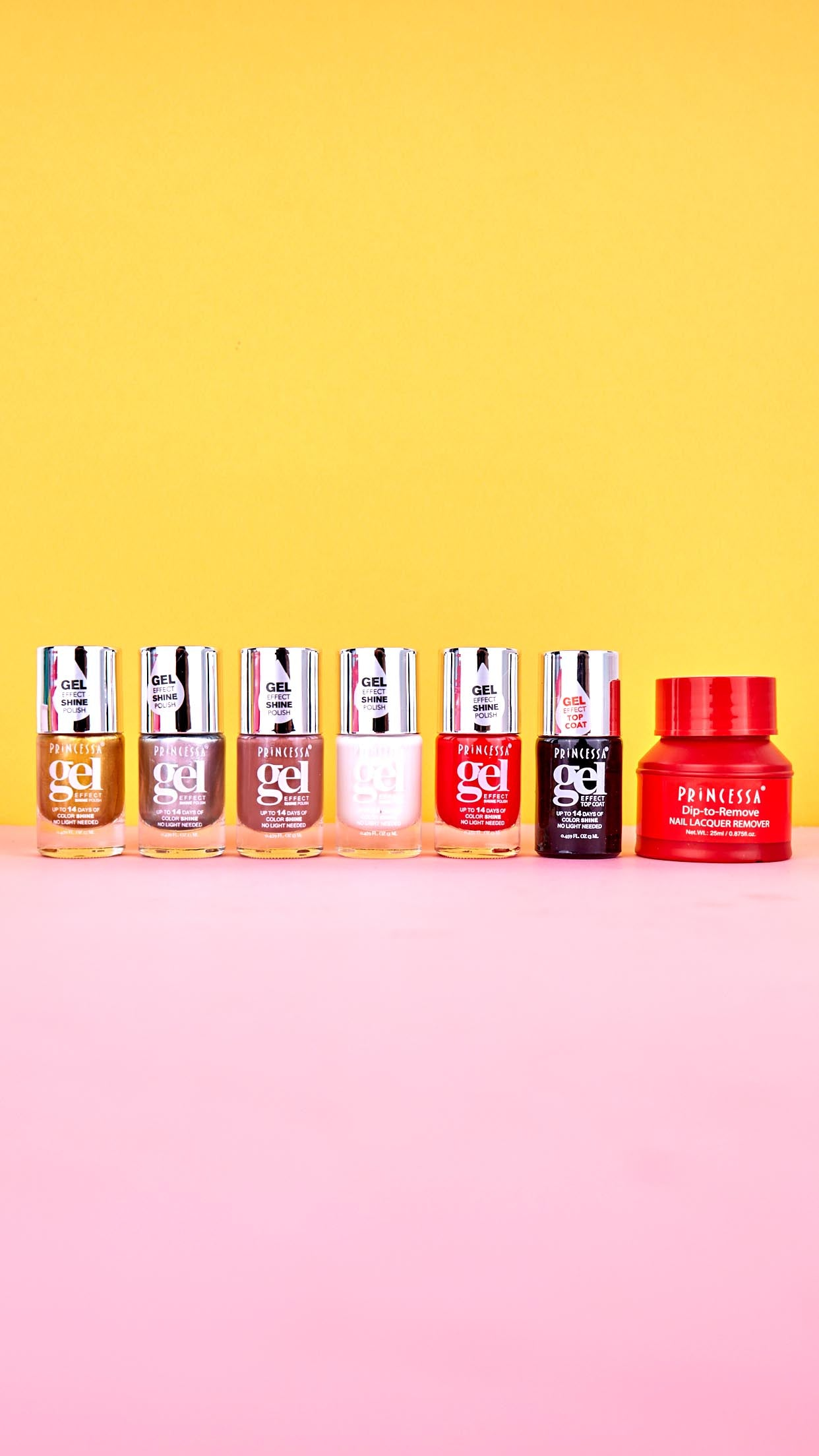 Gel Effect 7 Piece Shine Polish Set