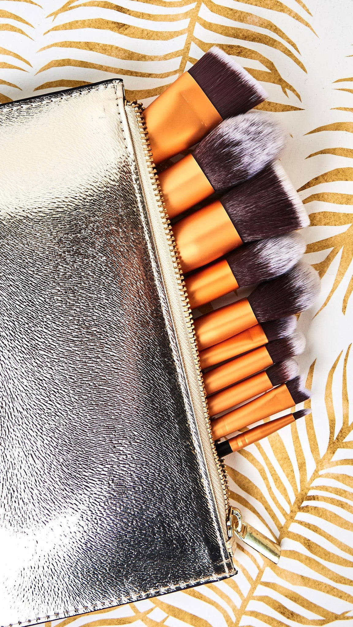 Gold Mine Collection 10-Piece Makeup Brush Set
