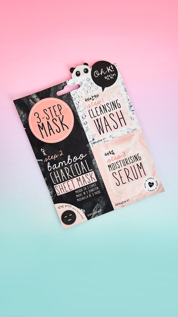 3-Step Bamboo Charcoal Sheet Mask