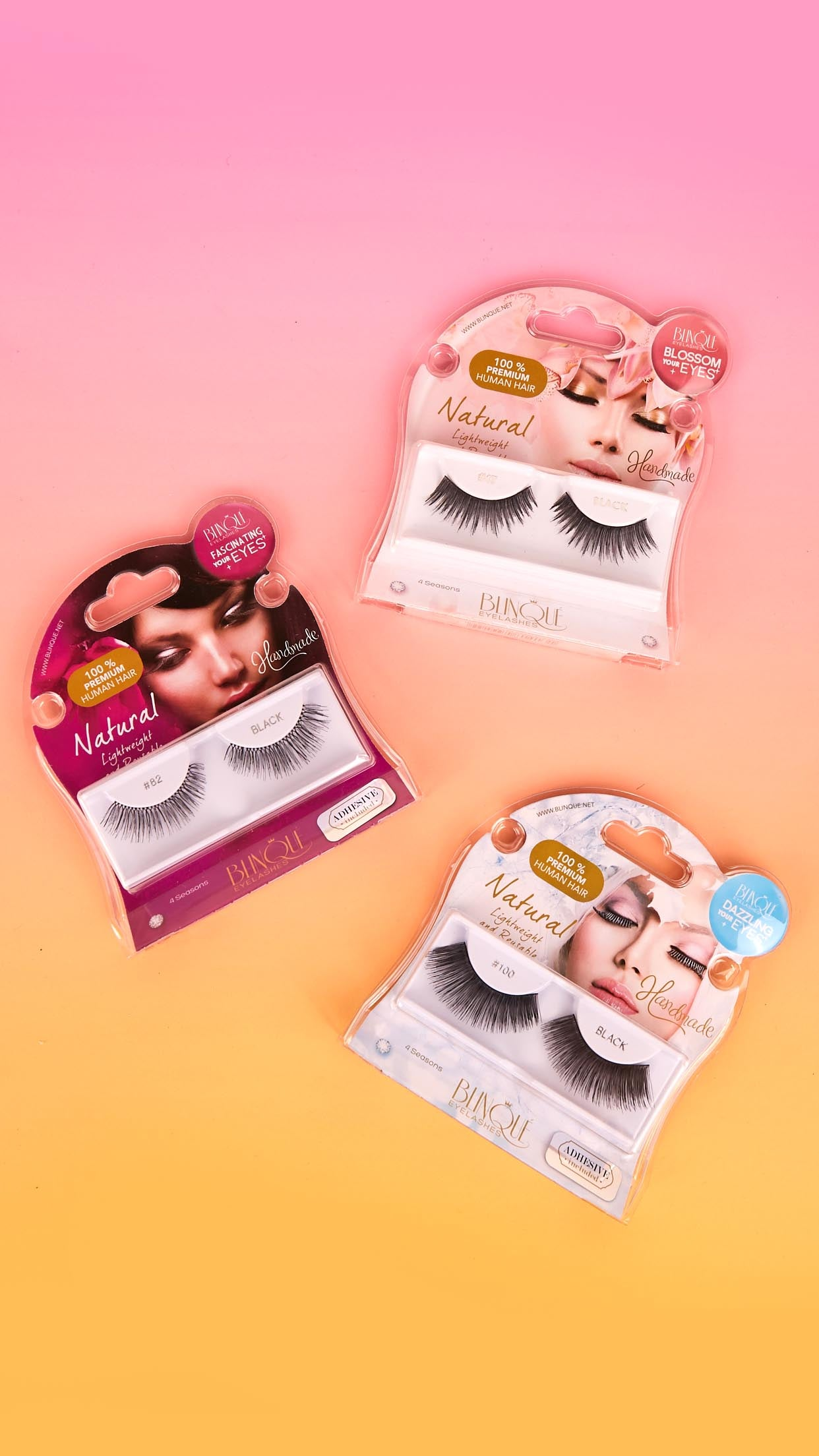 Premium Human Hair False Lashes