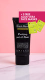 Purifying Peel-Off Mask + 2 FREE ALOE VERA FACE MASKS