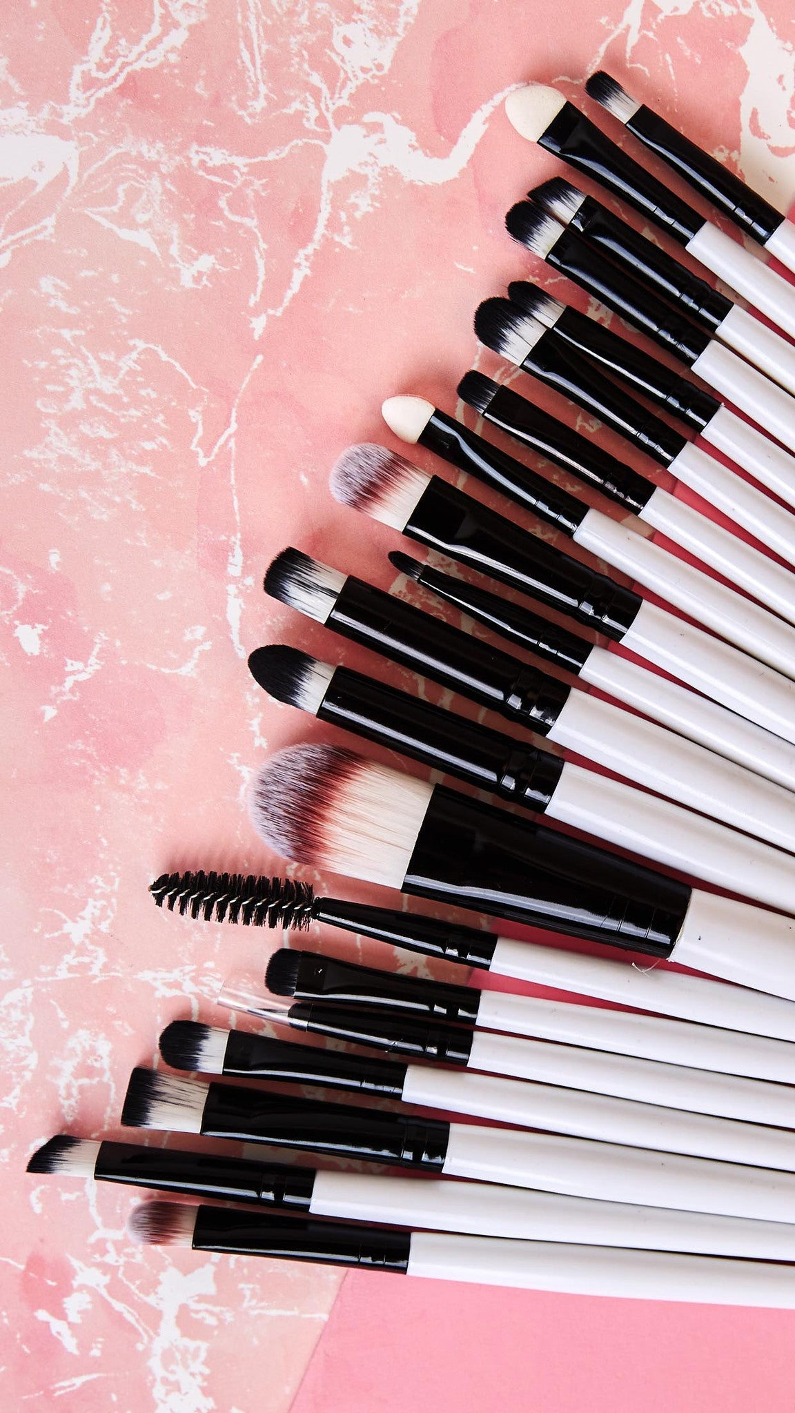White 20-Piece Mini Brush Set