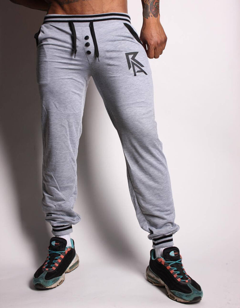 Grey Buttoned Joggers