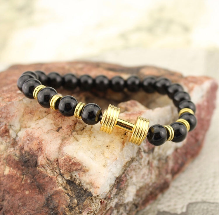Black & Gold Energy Gym Beads