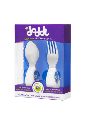 Doddl 2-Piece Cutlery Set Blueberry Blue