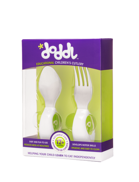 Doddl 2-Piece Cutlery Set Lime Green