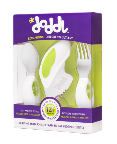 Doddl 3-Piece Cutlery Set Lime Green
