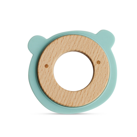 Little Rawr Silicone & Wood Teether