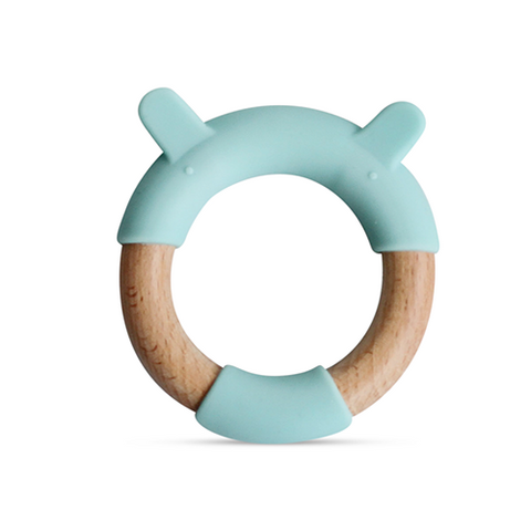 Little Rawr Animal Silicone & Wood Teether