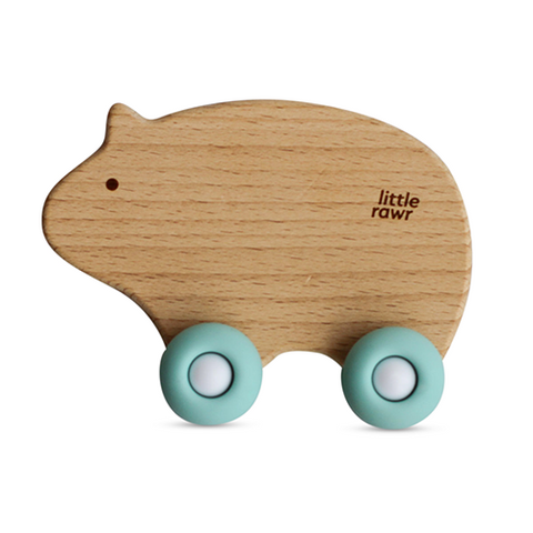 Little Rawr Wood Wheelie Animal