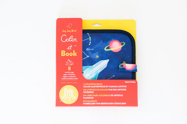 Jaq Jaq Bird Chalk Colour It! Book
