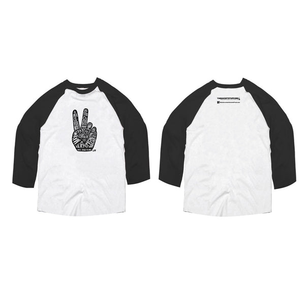 APN Sweet Hand Baseball - 3/4 Slv T White/Black