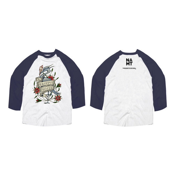 APN Colour Heron Baseball L/Slv White - D/Navy