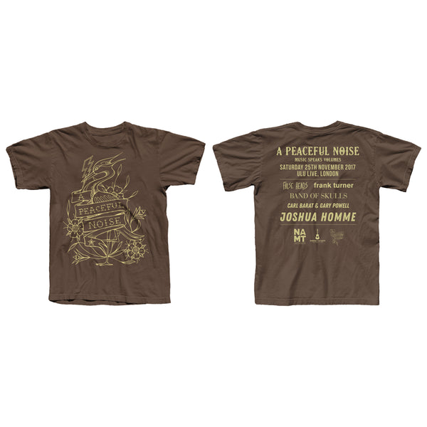 BROWN GOLD HERON EVENT TEE
